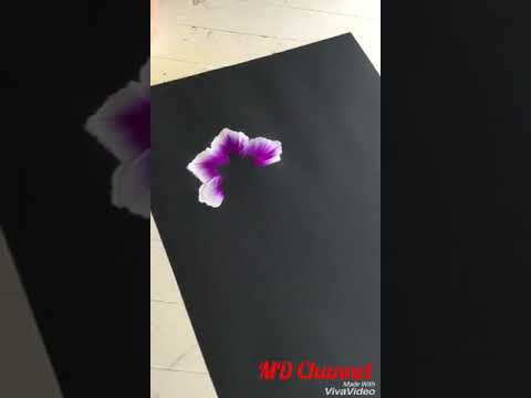 Acrylic paint art | Vẽ Hoa Bằng Màu Nước Đơn Giản | MD Channel