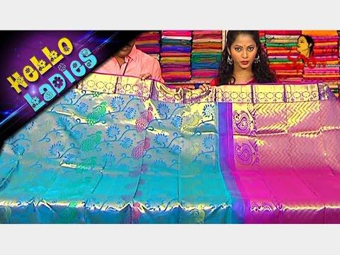 Low Cost Handloom Pure Kanchi Pattu And Cotton Ikat Sarees || Hello Ladies || Vanitha TV