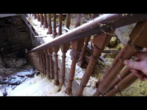 Exploring the old house and removing the hardwood banister