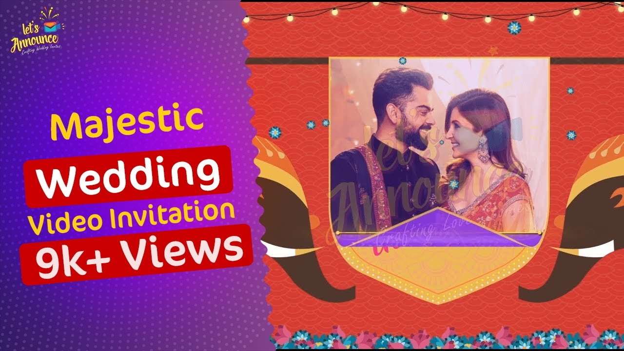 Majestic Indian Wedding Invitation   Save the Date by Letsannounce ...