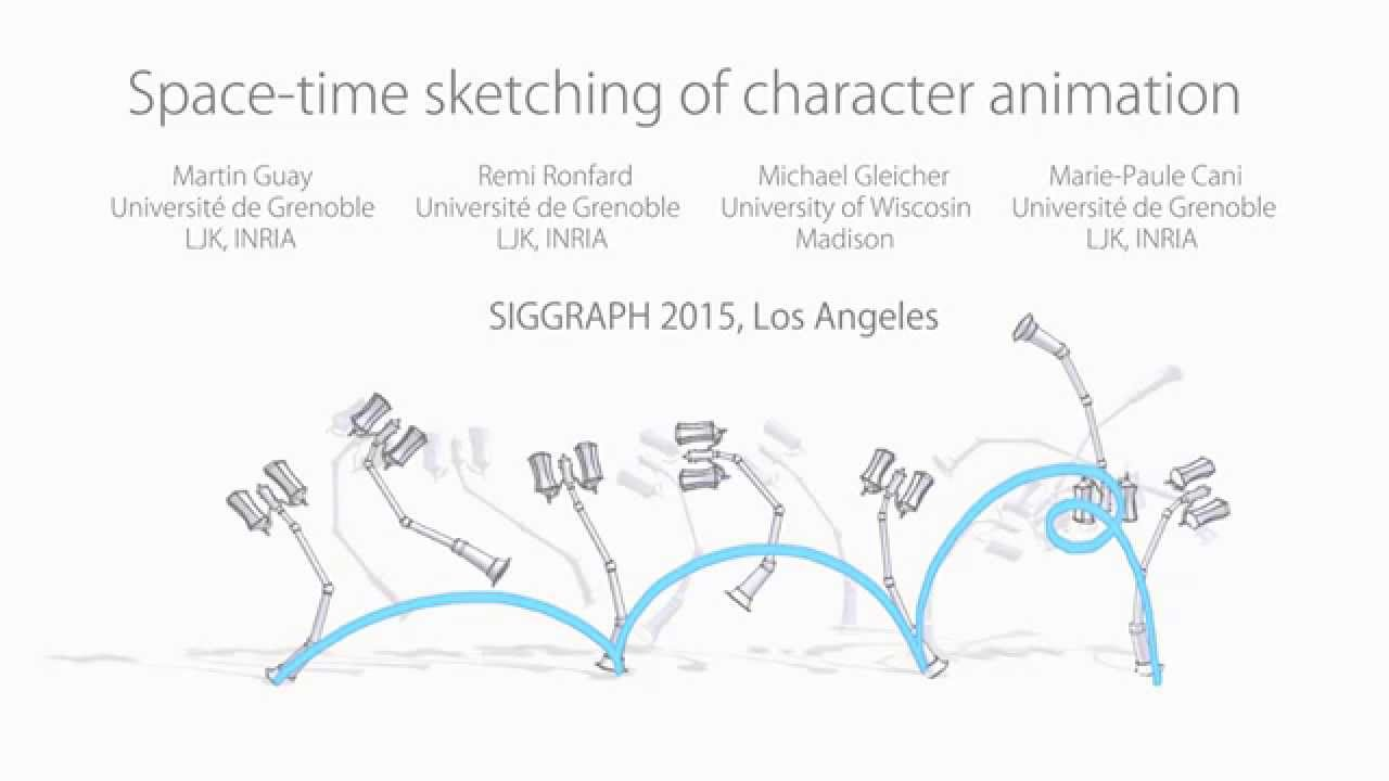 Space-time sketching of character animation (SIGGRAPH 2015)