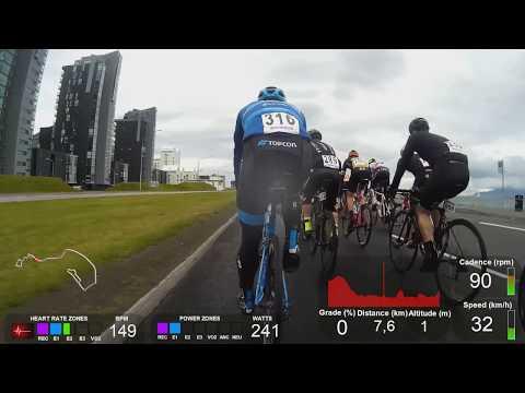 Tour of Reykjavik 2017 dagur 2 - fyrstu 16 km