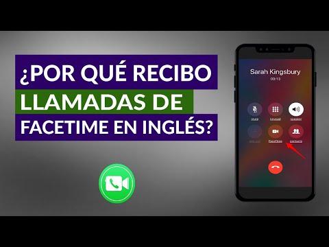 Por qué Recibo Llamadas de FaceTime en Inglés