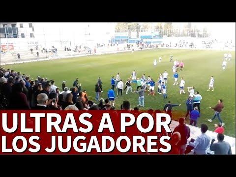 Los ultras del Xerez saltan al campo a agredir a jugadores del Écija