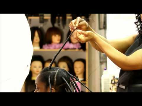 NO HEAT STRETCHING OUT NATURAL HAIR WITH AFRICAN THREADING - GROW & PREVENT HAIR SHRINKAGE