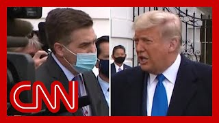 'Shouldn't voters judge you on the pandemic? Did you blow it?'  Watch Trump respond to Jim Acosta