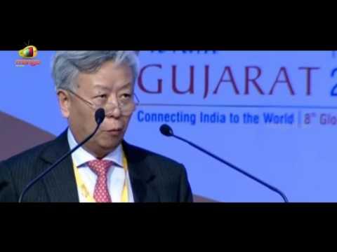 Chinese Politician Jin Liqun Addresses Vibrant Gujarat 2017 Inaugural Ceremony   Mango news