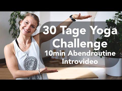 30 Tage Yoga Challenge / 10min Abendroutine für Anfänger