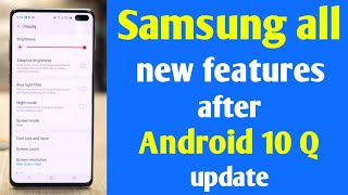 Samsung Android 10 Q With One Ui V2 What New Features  Samsung Android 10 Q Feature Leak