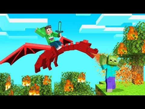FLYING On DRAGONS IN MINECRAFT! (Epic)