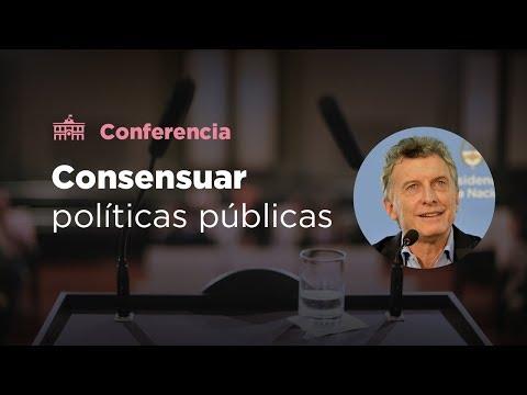 El presidente Mauricio Macri presentó las propuestas para consensuar políticas públicas