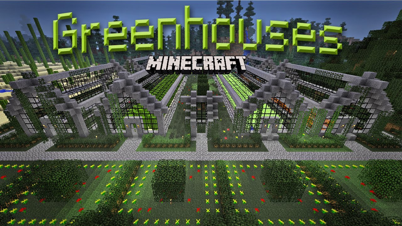 Super awesome minecraft 15 how to build a greenhouse for How to make house green