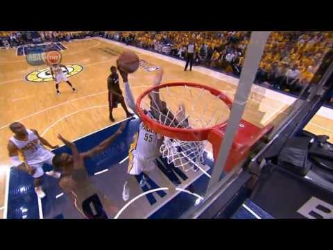 Roy Hibbert Goes to Work in the Post