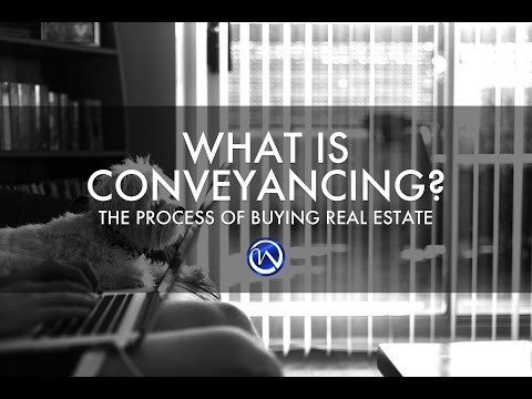 What does legal term conveyance mean