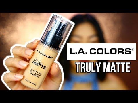 PROBANDO LA BASE DE L.A COLOR TRULY MATTE.. LA MEJOR BASE POR SOLO $6?! | Carol Chang