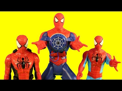 Marvel Ultimate Spider-man Web Slinging Spiderman Electro Battle Gear Gets Sprayed In The Snow