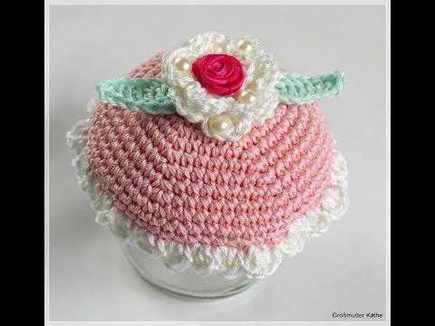 großmutter-käthes-nähstunde-:-vintage-diy-:-glas-deckel-dekorieren,-rose-häkeln