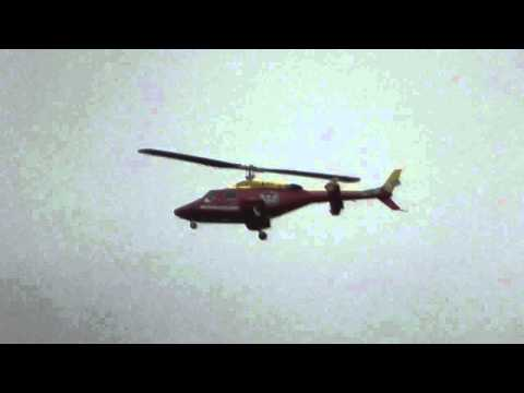WAIKATO WESTPAC RESCUE BELL 222B  HELICOPTER LANDING HAMILTON
