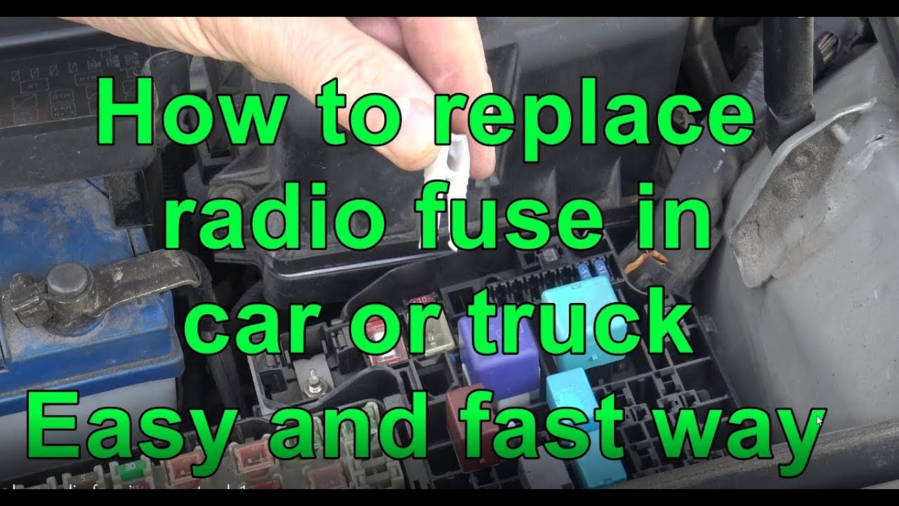 how to replace radio fuse in car or truck easy and fast way  [ 1280 x 720 Pixel ]