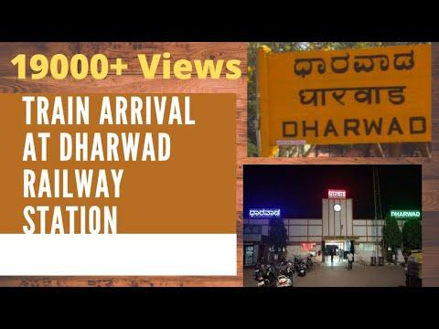 Train entry in Dharwad Railway Station