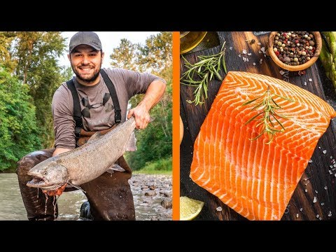Washington Salmon Fishing CATCH And COOK! - Best Recipe EVER!!