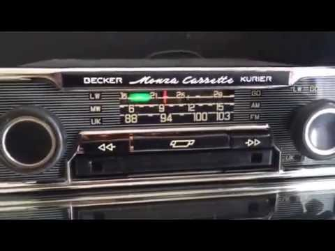 becker monza stereo vintage classic car. Black Bedroom Furniture Sets. Home Design Ideas