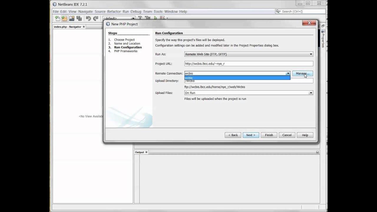 Netbeans FTP Configuration