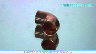 TRADING DEPOT: End Feed 90 Degree Street Elbow 15mm Part no: ENF108/15