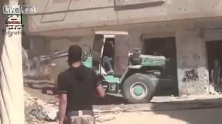 THE FSA ARMOURED BULLDOZER!!