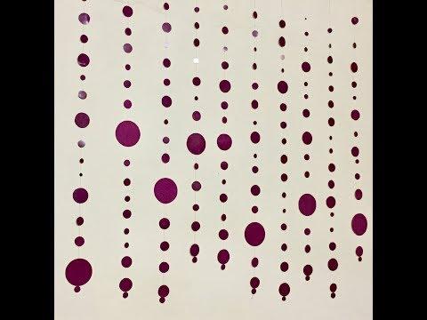 Beautiful circle dots garland//DIY Home decor