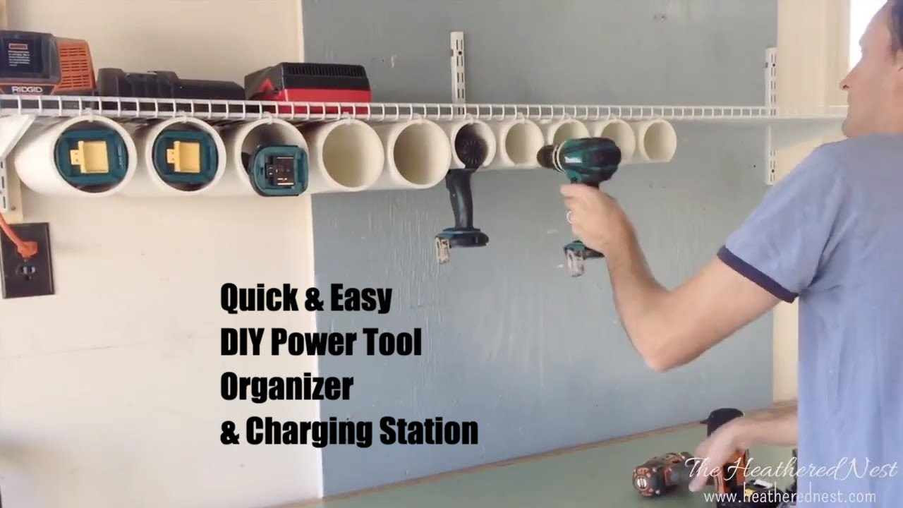 How To Build A Quick Easy Diy Power Tool Organizer Charging Station