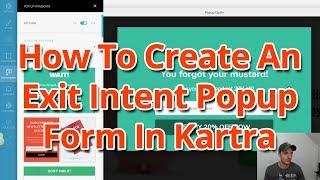 كيفية إنشاء نية الخروج المنبثقة شكل في Kartra
