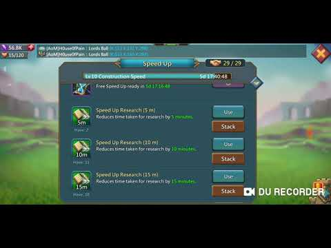 Lords Mobile: Research Construction Speed Lvl 10 And Hell Event