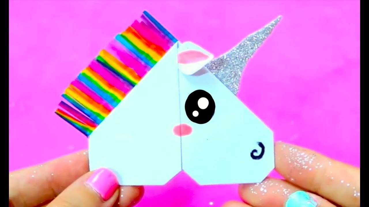 DIY Unicorn Corner Bookmark | Easy & Cute School Supplies