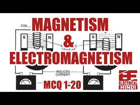 Magnetism and Electromagnetism In Hindi Objective Questions  || MCQ 1-20 || Electrical Engg In Hin