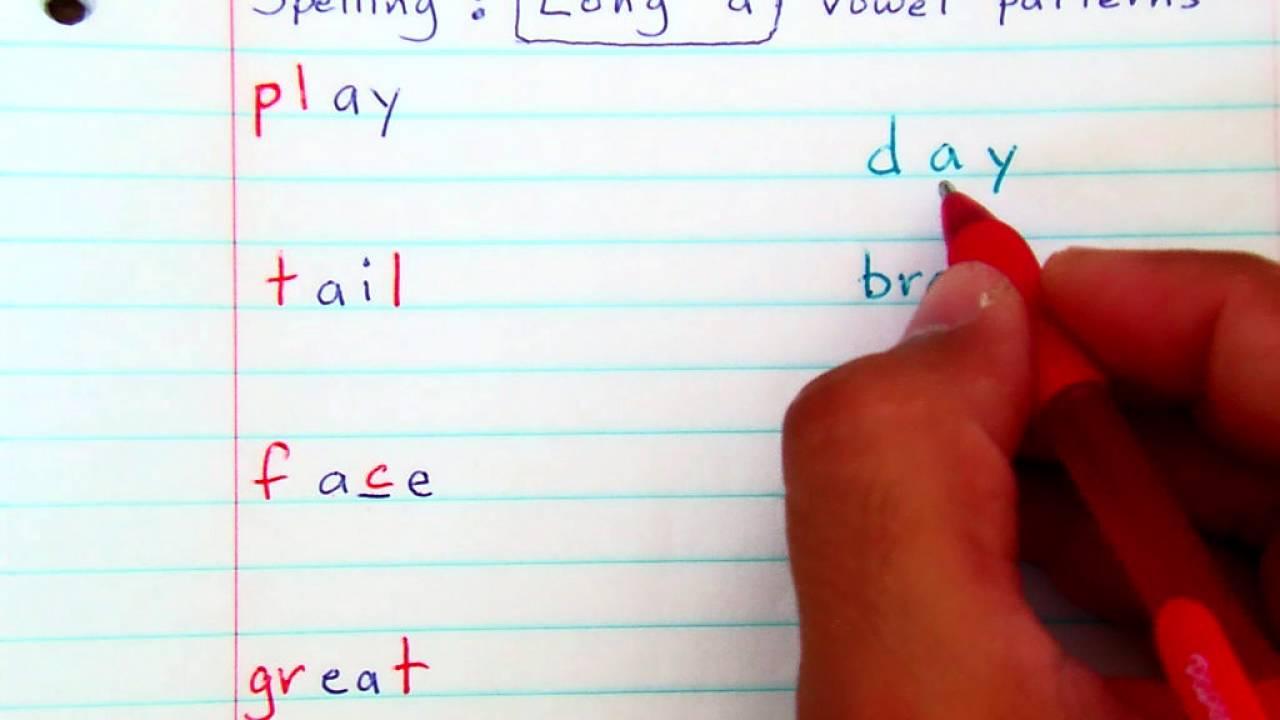 grade 3 spelling long a vowel patterns youtube. Black Bedroom Furniture Sets. Home Design Ideas