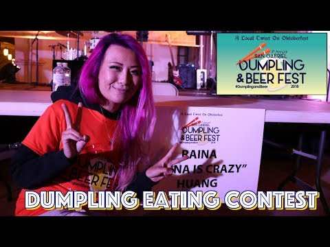 Dumpling Eating Contest - San Gabriel Beer and Dumpling Festival 2018 | RainaisCrazy
