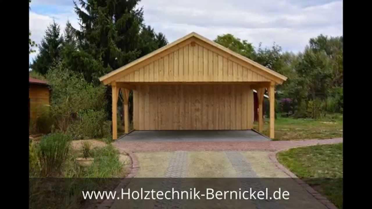 Satteldach carport berlin holztechnik bernickel carport holzbau