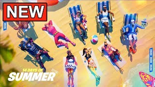 *NEW* 14 Days Of Summer Event! (FREE SKINS) Fortnite New Challenges, Unvalted Weapons & LTMs
