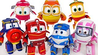 Robot Train S2 transform train robots Kay, Alf, Victor! Save the Titipo and Thomas! #DuDuPopTOY