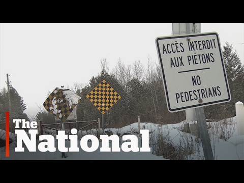 Asylum-seekers cross U.S. border to Quebec