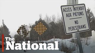 بالفيديو: الشرطة الكندية تعتقل عائلة سورية على الحدود مع أمريكا
