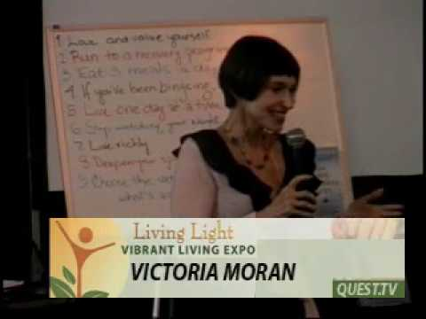 """326 QUEST.TV: Victoria Moran: """"End emotional eating""""  Vibrant Living Expo Fort Brag 2009 TH"""