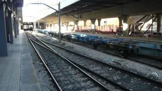 Comsa Rail Transport 335 con PAPELERO saliendo del TCR de Villaverde + Renfe Mercancías 253 con TECO