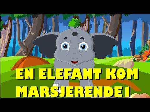 Barnesanger på norsk | En elefant kom masjerende med mer