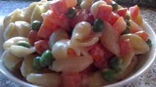 Салат с макаронами быстрого приготовления