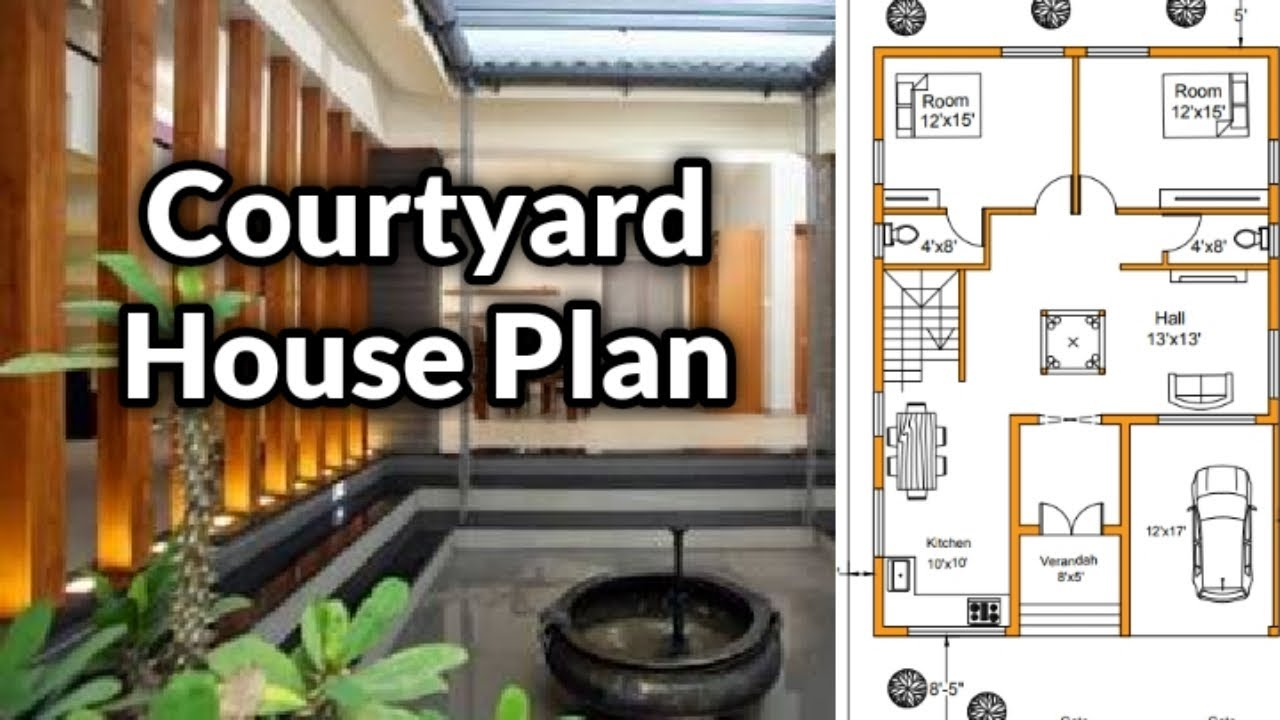 Courtyard House Plan 40 60 1500 Sqft East Face Er Anand Youtube