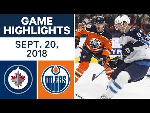 NHL Pre-season Highlights | Jets vs. Oilers - Sept. 20, 2018