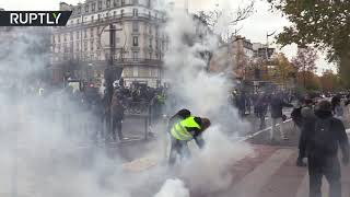 Scuffles with police as Yellow Vests mark their first-year anniversary in Paris