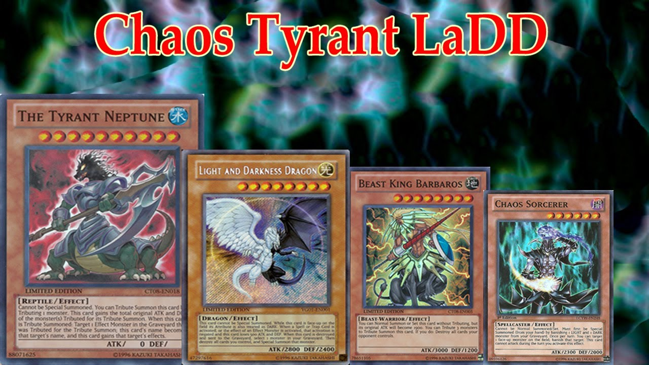 Deck chaos tyrant light and darkness dragon ygopro youtube aloadofball Gallery